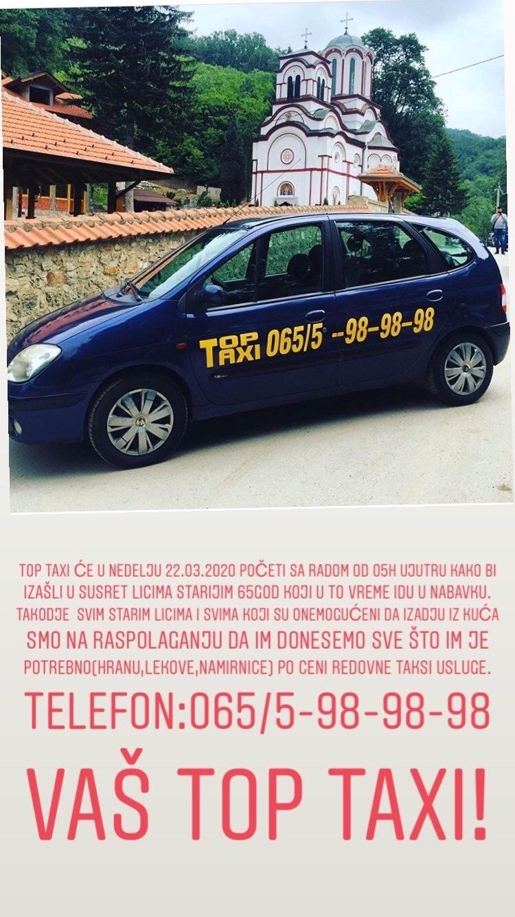 taxi topola
